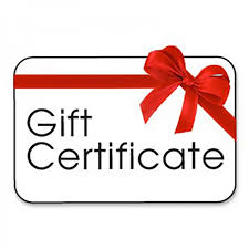 Gift Certificates and Tournaments